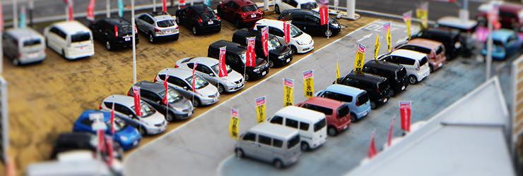 中規模で運営する中古車買取店イメージ