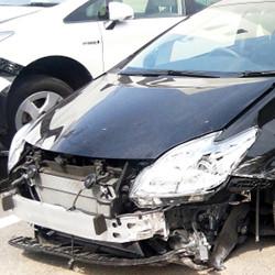 買取された事故車両
