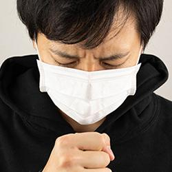 コロナウィルスに罹患した男性