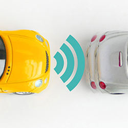 自動ブレーキを有する車