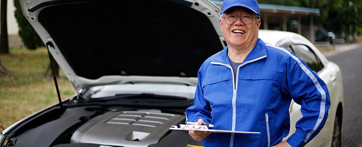 自動車の修理点検の見積もりをする